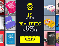 15 Useful Realistic Book Mockups Free PSD