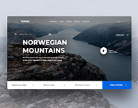 Concept design site travel agency