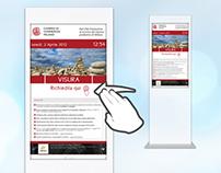 Digital Signage : UI for Camera di Commercio Milano