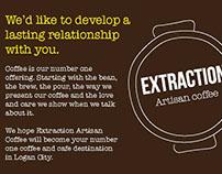 Extraction Coffee branding