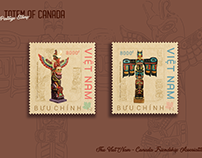 [VietNam Postage stamp] : TOTEM OF CANADA