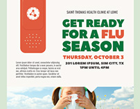 Flu Shot Campaign Flyer Templates