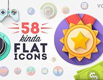 58 Premium Flat icons