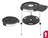 PORTABLE COBB COOKER TRIPOD STAND