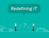 Redefining IT, Freelancer Communication Poster Design