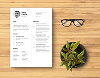 Free Figma Resume Template with Photo