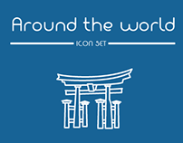 Around the world - Icon set