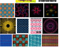 textile fabric geometric pattern graphic design vector