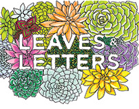 Leaves & Letters Coloring Book