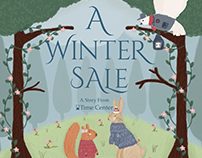 Time Center Winter Sale Campaign Illustrations