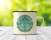 Enamel Mug - Digital Illustration