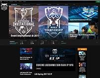 LOL E-Sports Site