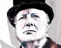 Winston Churchill portrait series