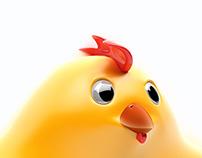 Chicken character 3D