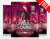 Urban Sound – Free Flyer PSD Template