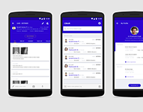 Android App Design for Doctors to keep patients logs