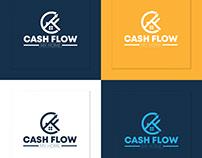 Cash Flow Real Estate Accounting CF Letter Logo Design