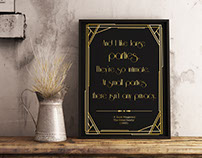 FREE Poster - The Great Gatsby