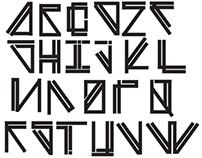 """""""Paraline Bold"""" font by Derek Hanneman"""