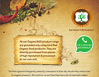 Organic products flyer