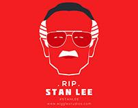 """Stan Lee"" King of Comics Minimal Poster RIP"