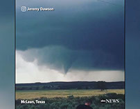 Funnel cloud forming in Texas