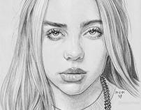 Pencil Drawing Billie Eilish
