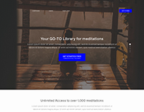 Meditations Landing page