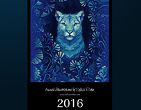 Animal Illustrations Calendar 2016