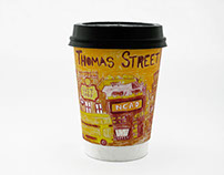 """Thomas Street"" Coffee Cup Design"