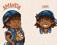 Character design Amanda