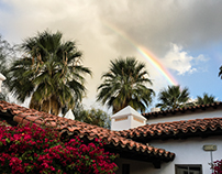 Palm Springs morning rainbow