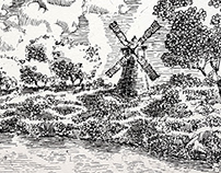 Landscape sketching-Painting the landscape with pen