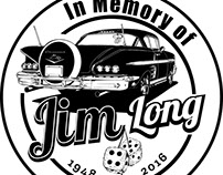 "Jim Long ""In Memory Of"" Decal"