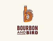 Bourbon & Bird branding for a restaurant.