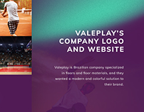 Valeplay logo and website design