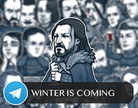 Winter is Coming Telegram Sticker Pack