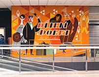 Łódź Fabryczna mural
