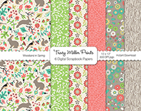 Scrapbook Paper Packs for Digital Downloads
