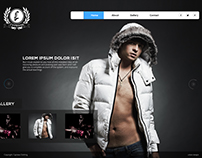 Landing page concept for a fashion outfit.