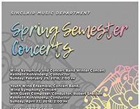Spring Semester Concerts Poster