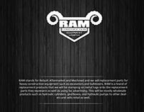 Logo Design for RAM Construction Equipment Parts