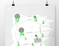 Infographic map, Los Olmos
