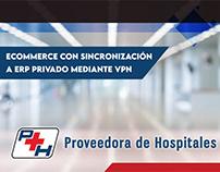 Ecommerce con sinc. a ERP - Proveedora de Hospitales