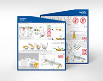 On-board safety instructions for Icelandair