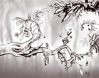 A few 2D concept arts/sketches...