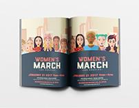 WOMEN'S MARCH LOS ANGELES FLYER DESIGN