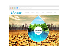 Artelac website concept