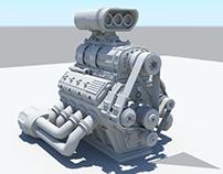 3D Model: Supercharger Engine
