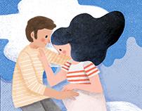 Editorial Illustration: A NOSSA GRAVIDEZ